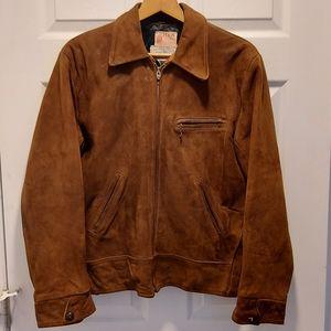Mens Vintage H&A Suede Jacket Size 42